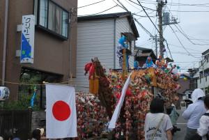 御船祭りの船形の山車(マツリブネ)